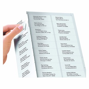 "30-UP Self Adhesive matte Address Laser Inkjet Mailing Labels ,1""X2-5/8"",White 8.5""x11"" sheet size"