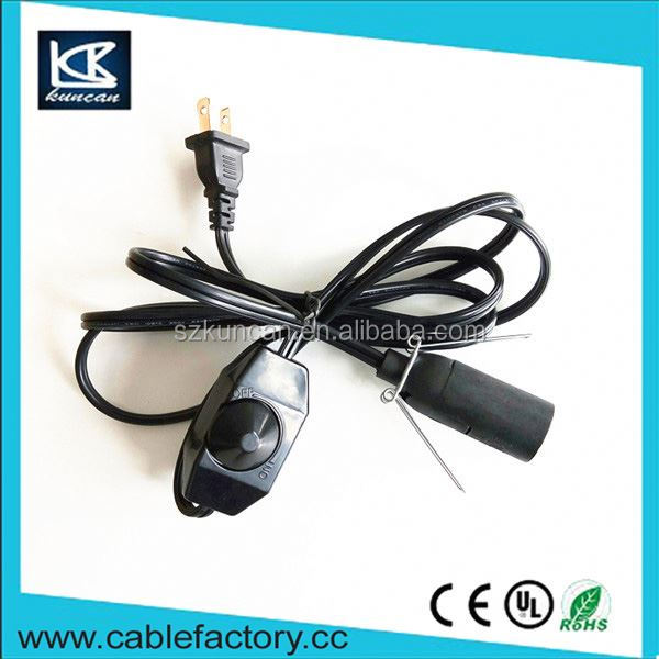 China wholesale salt lamp power cord e27 screw holder line