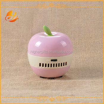 Popular Pink Apple Shaped Mini Table Vacuum Cleaner/Mini Desk Cleaner