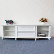 New model white high glossy wooden tv cabinet with showcase