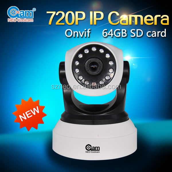 High resolution 720P 1 mega pixel pan tilt wifi ip camera with two way audio speaker network cameras