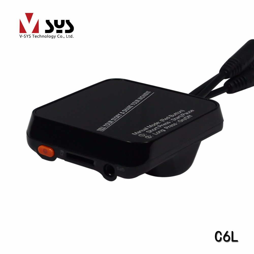 Vsys official Cheapest C6L Economic Separate dual lens motorcycle bike camera DVR support GPS and wired controller