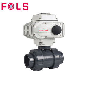 Cheap electric actuator plastic upvc pvc motorized welded ball valve