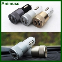 Smart Mobile Universal 2 in 1 Charger Micro Auto Charger Kit dual USB port 2.1A 1.0A Bullet Car Charger adapter