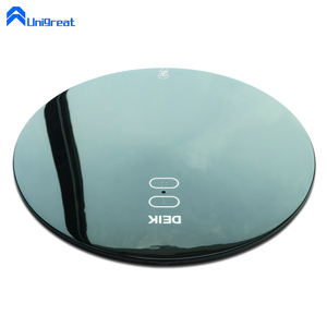 IMD IML graphic full form decor moulding plastic inject round circle ellipse oval shape frosted cover panel plate enclosure pad