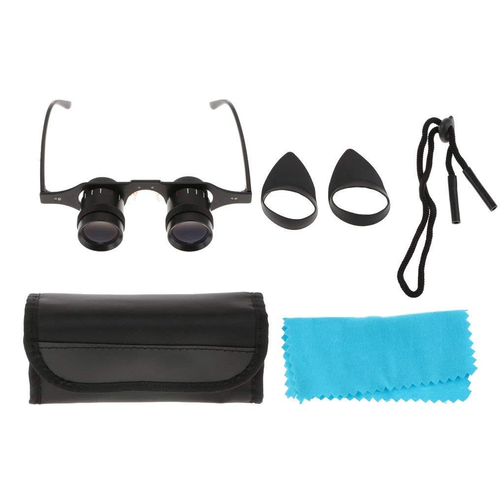 85b819c18b39 Get Quotations · D DOLITY 5x34mm Glasses Hand Free Fishing Binoculars  Telescope Eyeglasses Magnifying Binocular Focus for Bird Watching