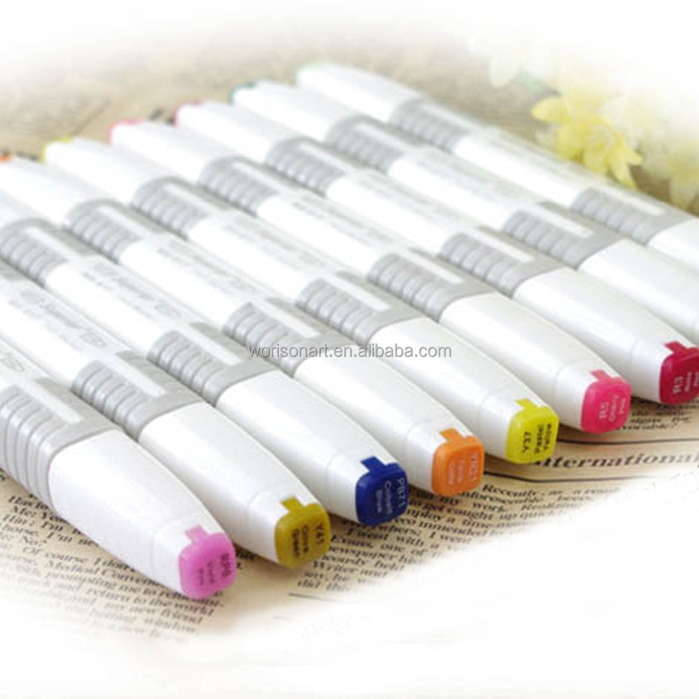 Professional Sketch Markers Set For Drawing Manga Markers Sketching Illustration Coloring With Blender Marker Buy Sketch Markers Twin Marker Pen Dry