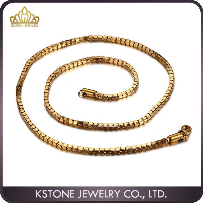 Kstone Dubai New Gold Long Chain Design For Men Stainless Steel ...
