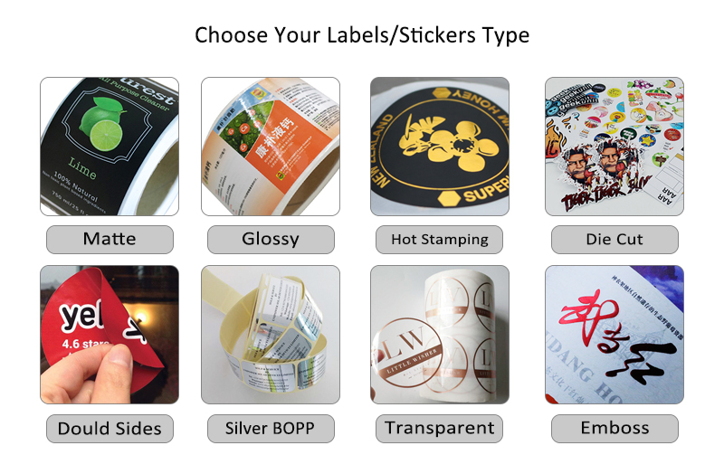 Customized Design Plastic Sticker Printing