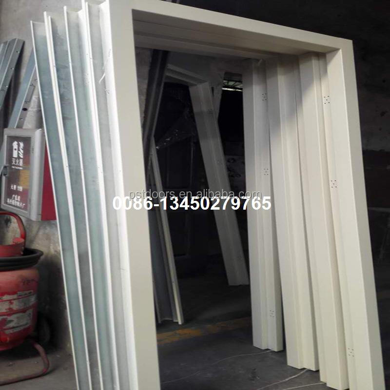 galvanized steel knock down packing steel door frame,konckdown steel jamb