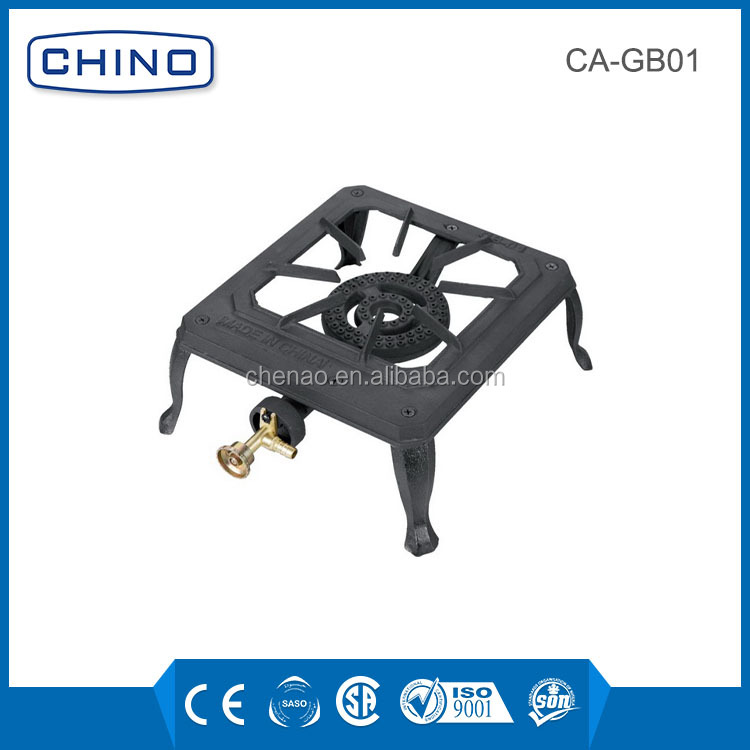 2017 new design cast iron made outdoor cooking gas stove