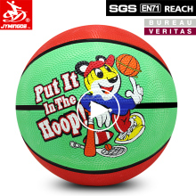 Soft custom printed carton rubber ball kids rubber basketball size 3