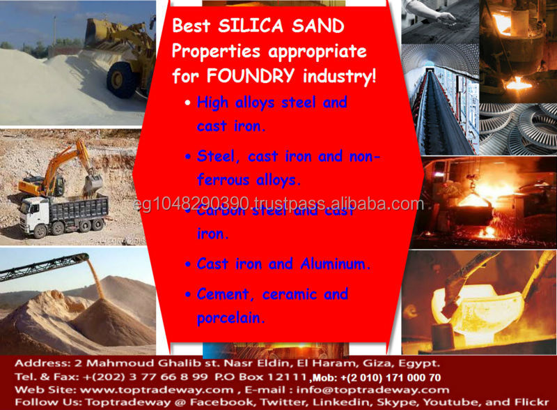 Silica Sand for Foundry Production