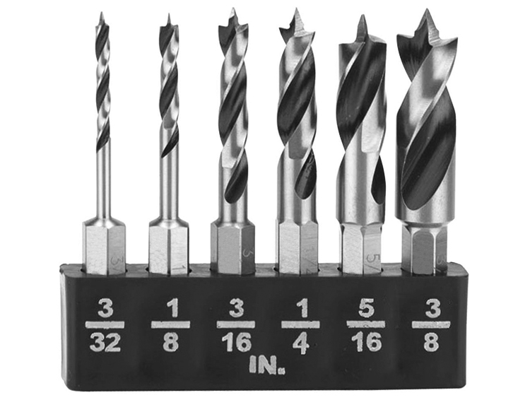 HSS Fully Ground Stubby Wood Brad Point Drill Bit for Wood Precision Drilling