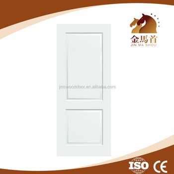 2 Panel Wood Grain White Primer Moulded Hollow Core Interior Door
