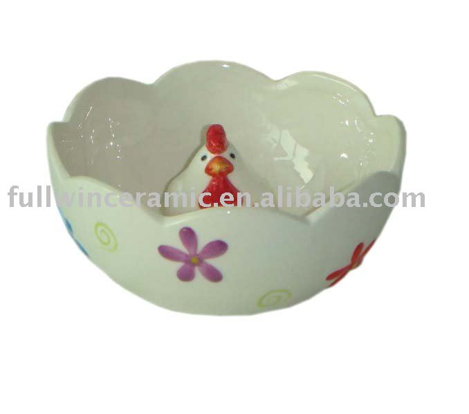 Easter rooster decorative ceramic easter bowls