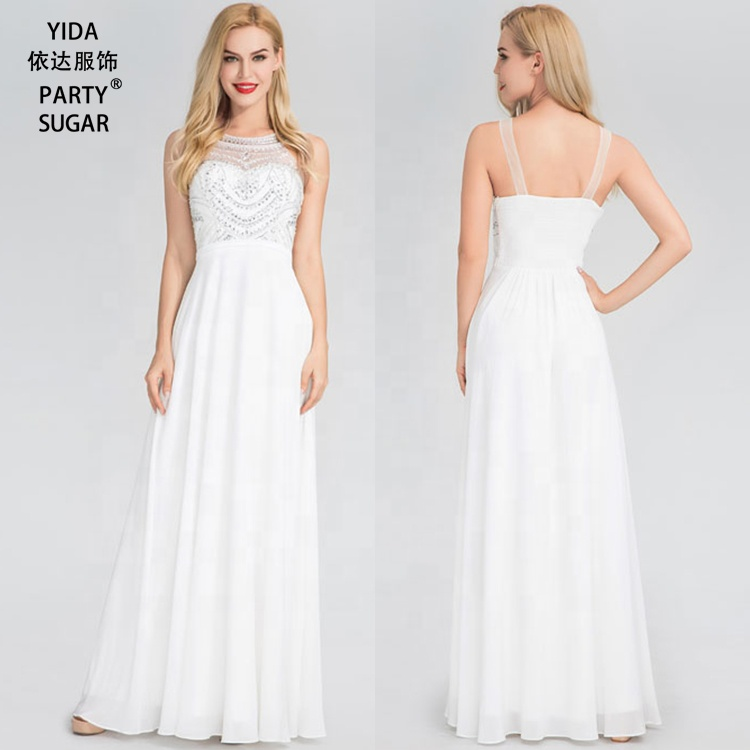 969596ed57a 2019 Evening Dress Long Gown Ladies White Bridesmaid Dresses For Girls -  Buy Women Dress Long Gown