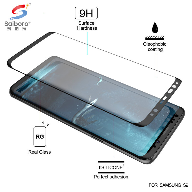 2018 new arrival 9H 3D curved screen guard for samsung galaxy s9 tempered glass screen protector