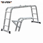 FL-12 Multi-purpose multiple position 12 step aluminum folding ladder