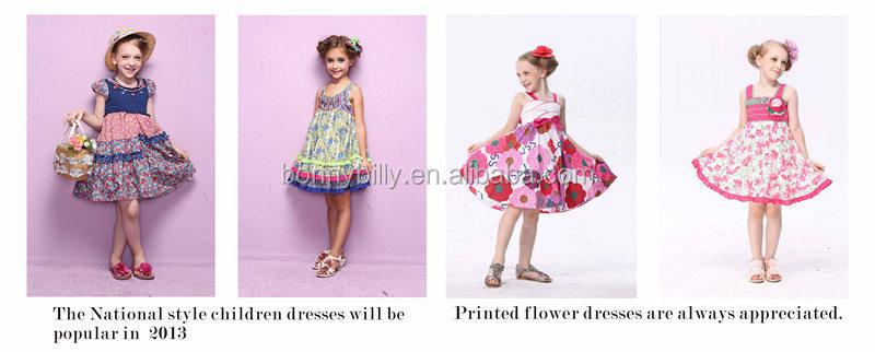 b178a1ae3417 High Quality Kids Clothes Girl Dress Girls Boutique Fox Pattern Fall ...