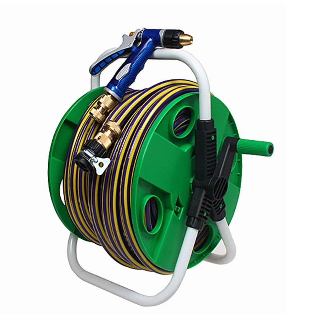 Roscloud@ Car Wash Water Gun Set Household Watering Copper High Pressure Pipe Head Hose Car Pipe Car Tools Hose Car 10/15/20 Meters Suit (Color : Green, Size : 20M)