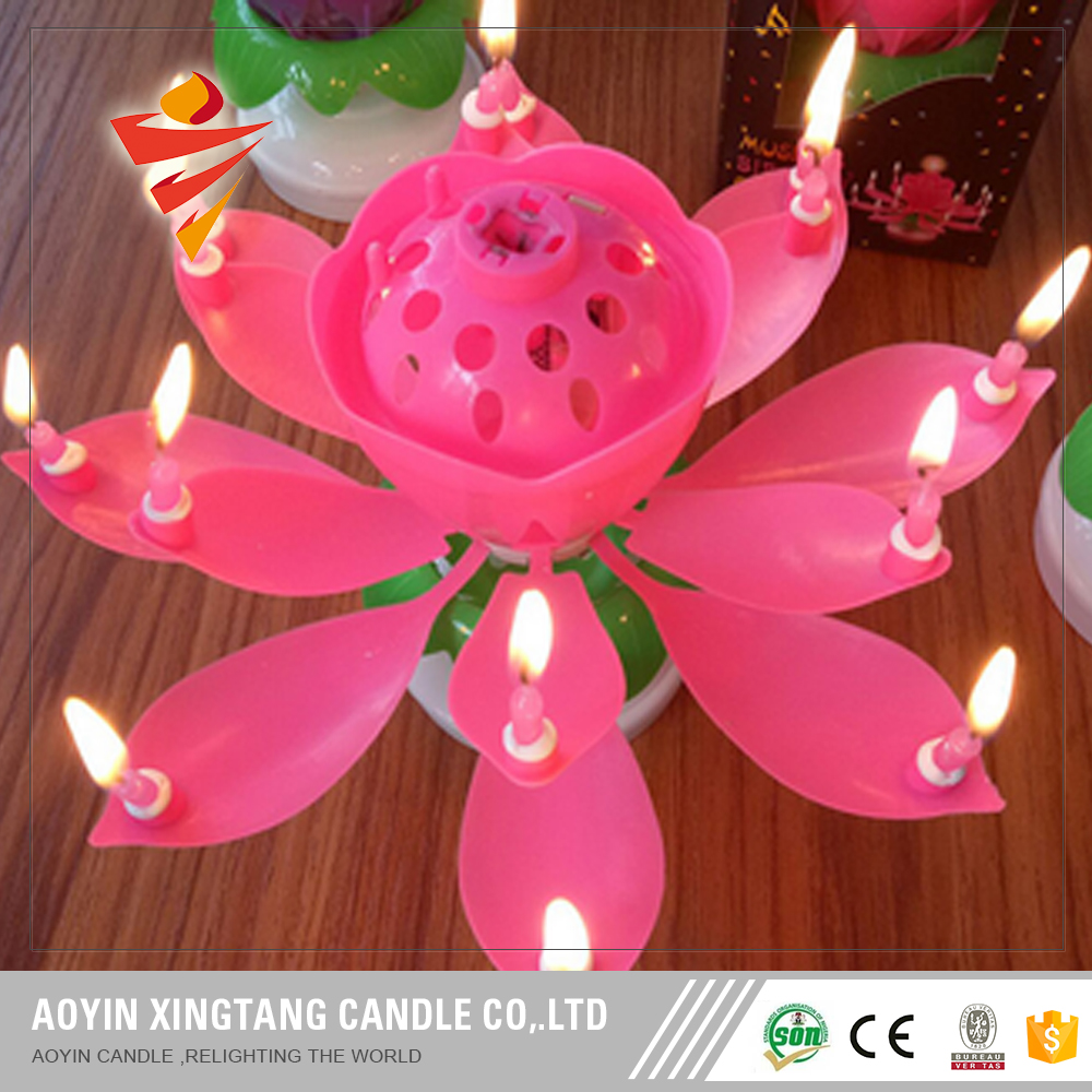 Most Popular Rotatable Music Happy Birthday Candle
