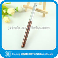 2014 classical black stripe brown and silver metal fountain pen