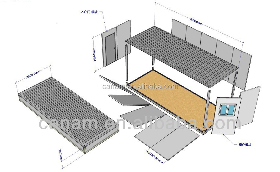 CANAM-New Style Prefabricated Steel Frame House of CNBM for sale