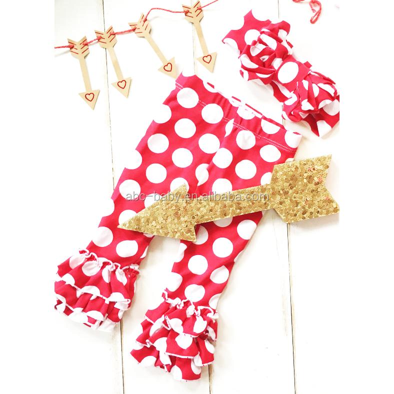 Baby Icing Ruffle Pants Fashion Polka Dot Baby Bulk Leggings ...