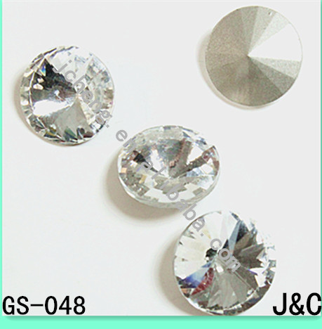 round shaped crystal decorative glass beads