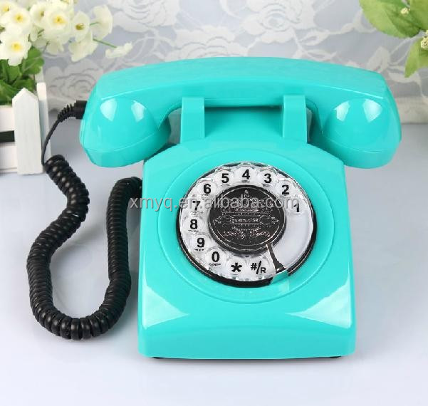 product detail  new design phone fixe decorative fancy corded telephone set for the