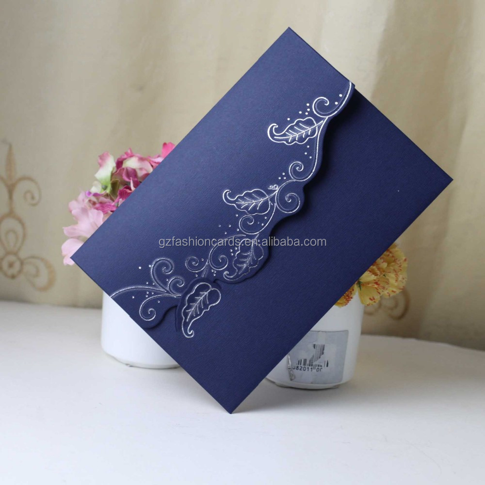 Azul Oscuro Hecho A Mano Diseño De Tarjeta De Invitación De Boda Buy Invitación De Boda Invitación De La Boda Invitación De La Boda Product On