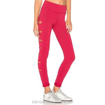 43484b7f702da Sexy Laser Cut Leggings Custom Women Yoga Pants Fashion Active Wear ...