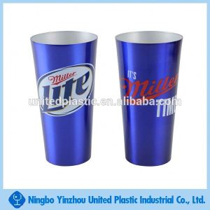 custom color aluminum drinking cup/ 16oz beer mug