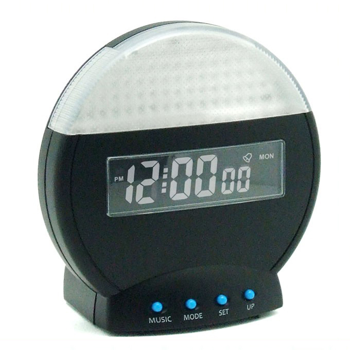 VGW-8010 Circolare Moderno Double Sided Digital Alarm Clock Display