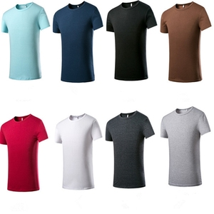 KC034 Free shipping plain blank top tees mens 100% supima cotton t shirt in stock /OEM Custom