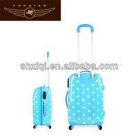 abs 4 wheels luggage carrying on trolley suitcase sets