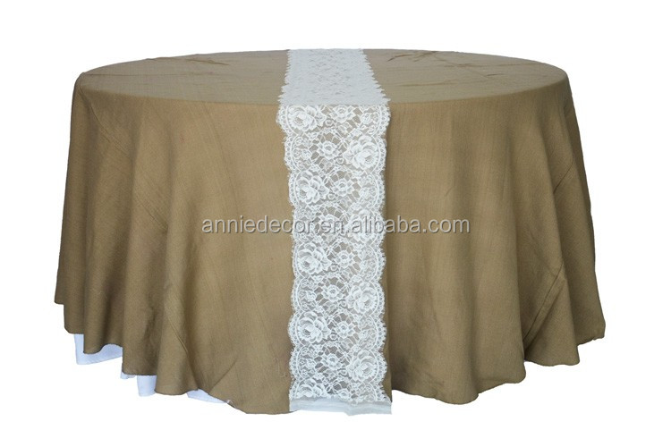 Cheap lace table runner for burlap tablecloth,fancy wedding table runner
