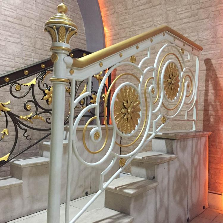 interior luxurious crystal stair railing
