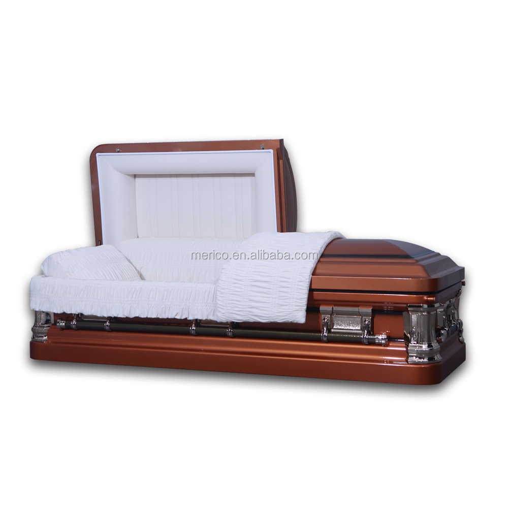 HAMPTON 18 ga beautiful unique casket form KINGWOOD