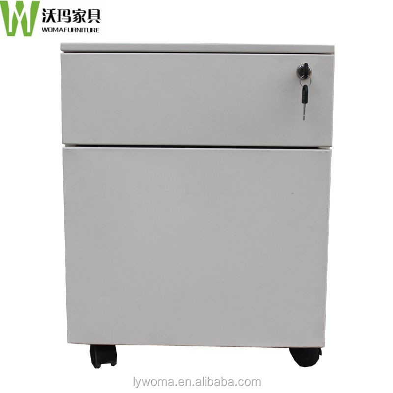 Good High Quality Steel 2 Drawer Mobile Pedestal Filing Cabinet Used Metal Filing  Storage Cabinet With Wheels