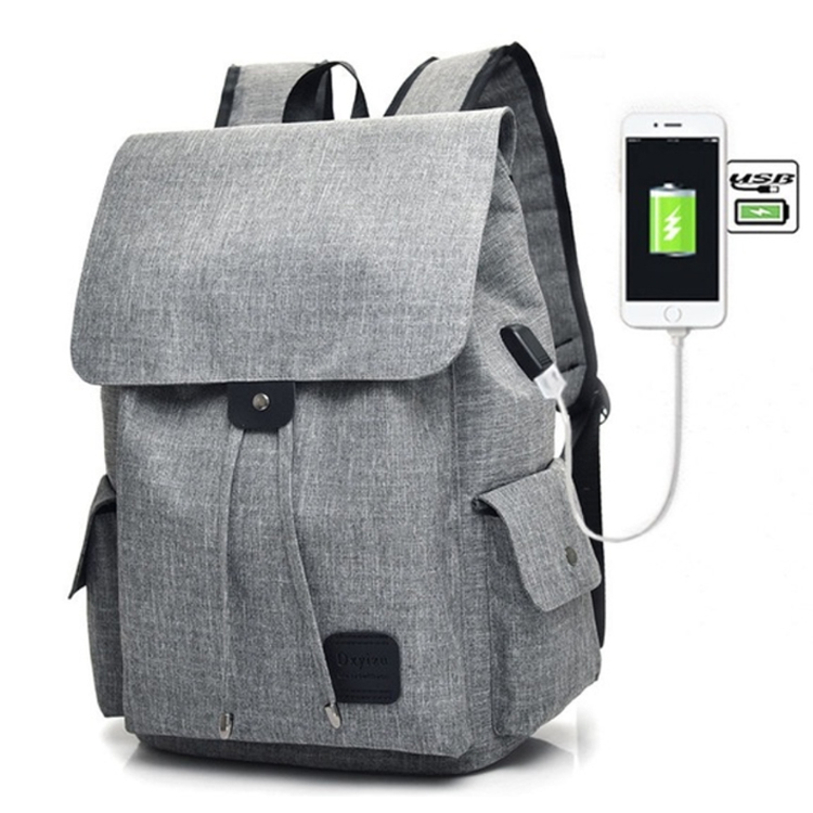 Osgoodway2 Women Canvas Backpack Casual USB Interface Charging Shoulder Bags For Teenager