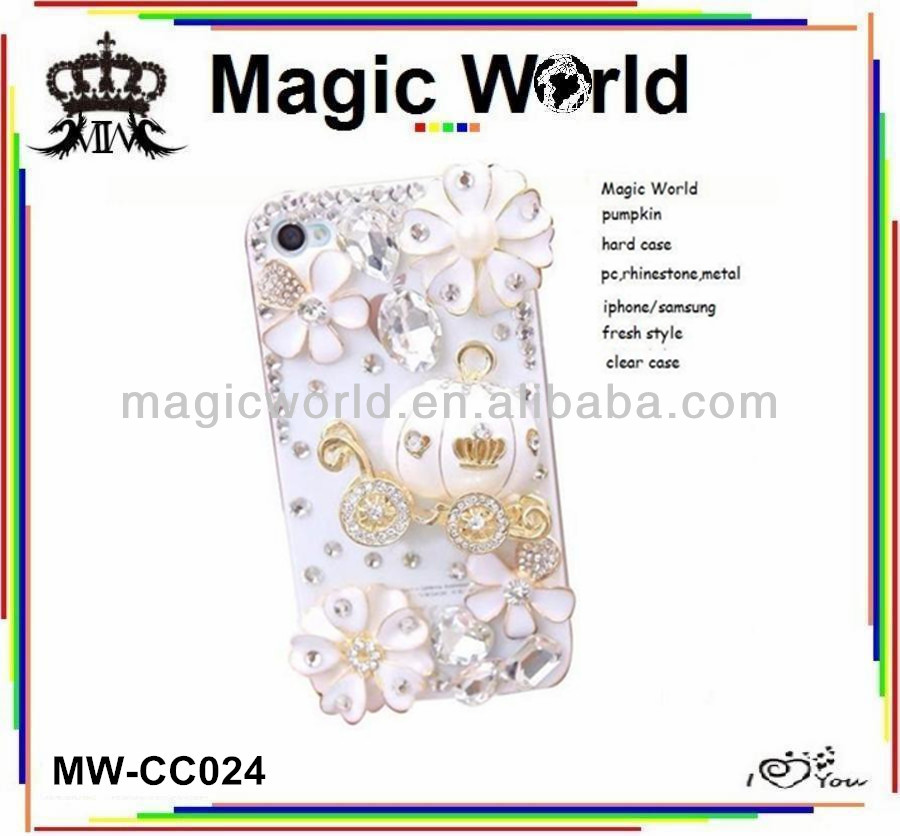 FOR I PHONE 5S Christmas pumpkin car rhinestone case