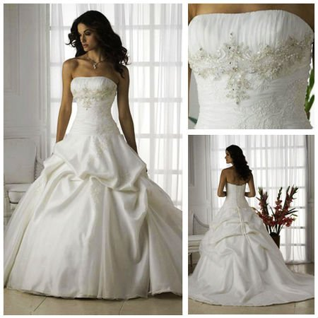 Free Shipping!!! MW2137 Fantastic Strapless Beaded Organza ...