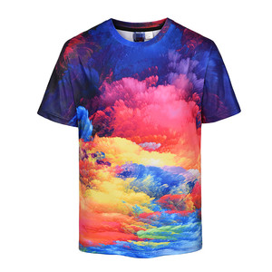 Super Vivid Custom Sublimation Tie Dye Tshirt with Your Logo