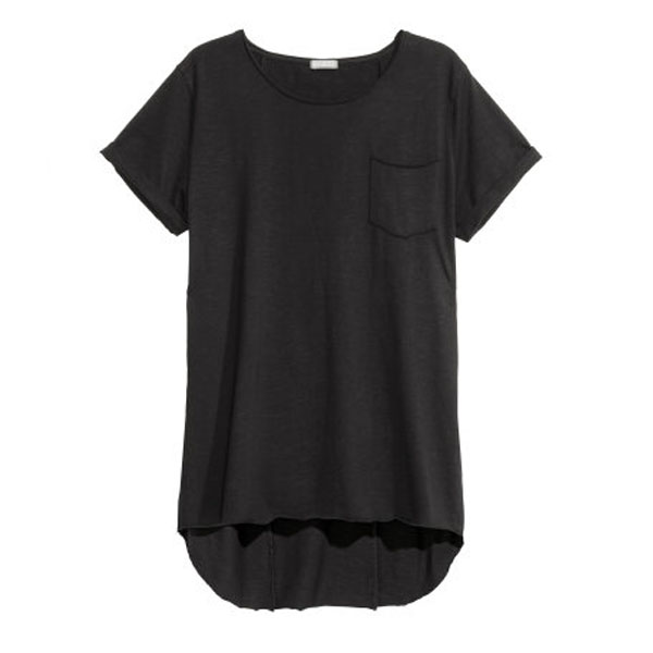 Wholesale Urban T Shirts Men's Casual Wear Longline T-shirts with Pocket