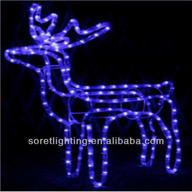 Color azul reno forma led luz de la navidad con motivos - Renos de navidad con luces ...