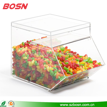 Stackable Bulk Candy Container Clear Lucite Acrylic Candy Storage
