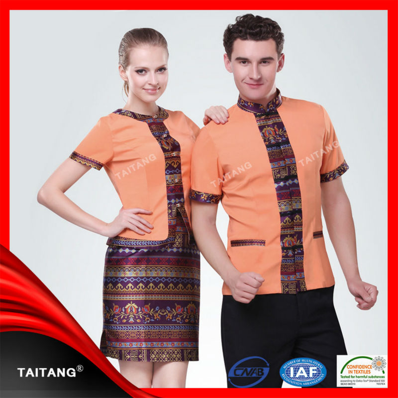Guangzhou facotry hotel uniform office front uniform for Spa uniform south africa