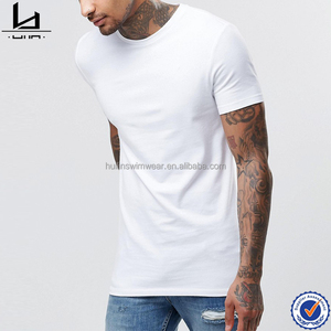 94% cotton, 6% elastane crewneck cotton rich mens t shirt stretch jersey plain blank t shirt